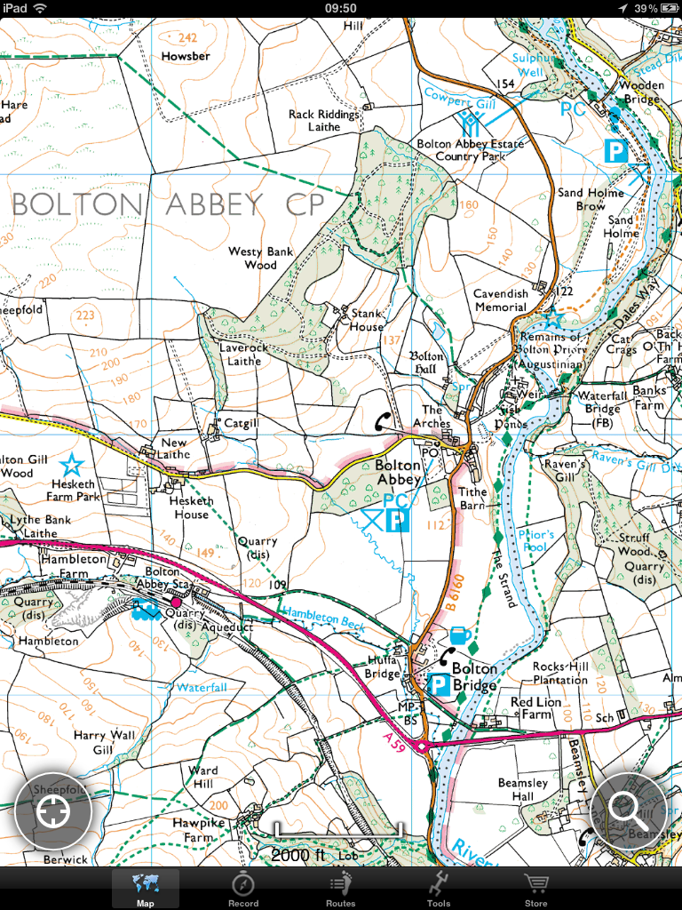 Bolton Abbey Map OS Maps   OutDoors